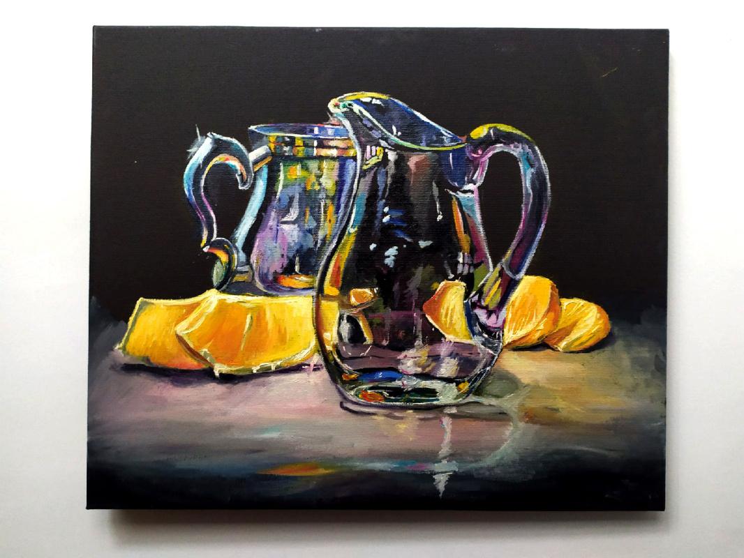 Anya Valerievna Podlesnova. Glass and citrus