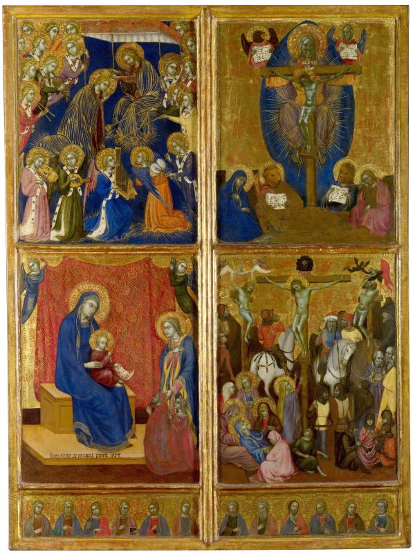 Сцены Богородицы, Троица, Распятие