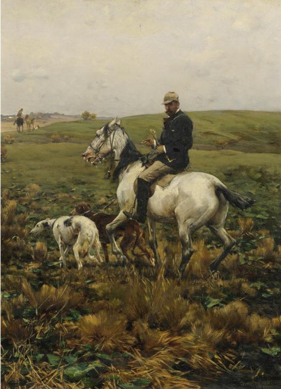 Альфред Ян Максимилиан Веруш-Ковальский. Охотник с гончими.