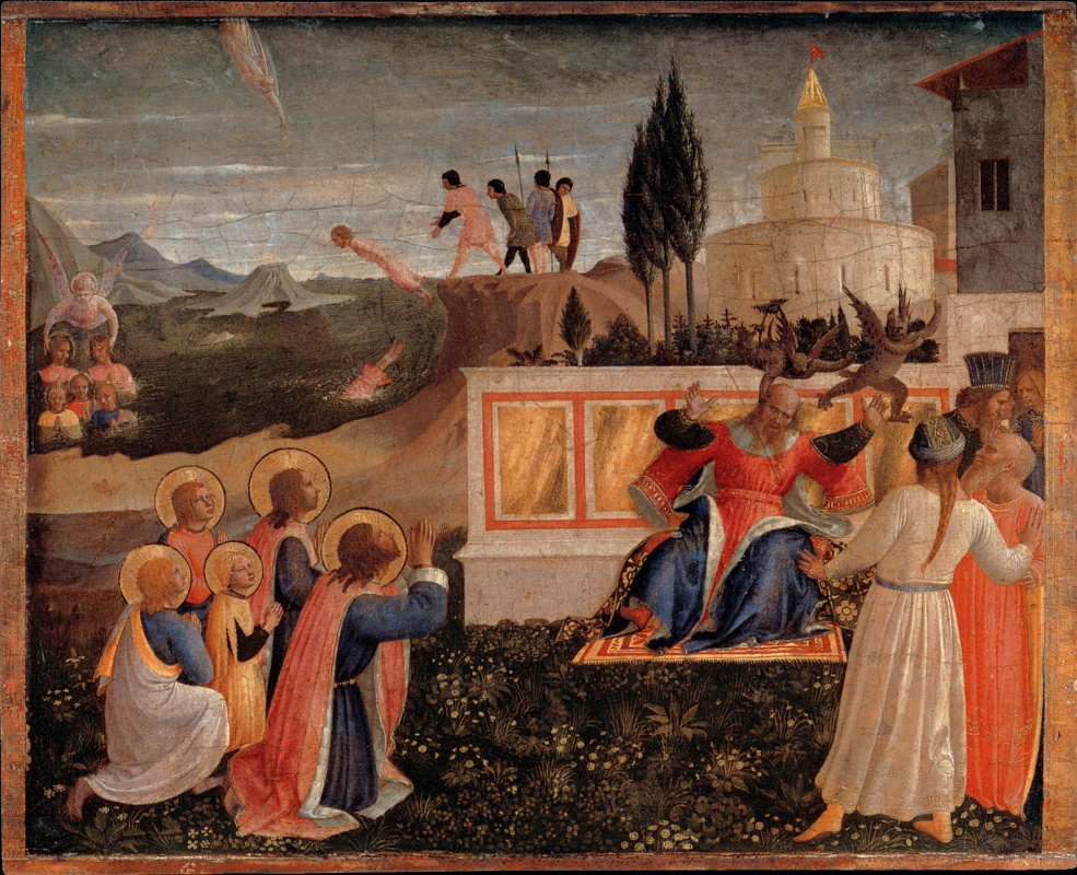 Fra Beato Angelico. Salvation of saints Cosmas and Damian. The altar of the monastery of San Marco. Limit 2