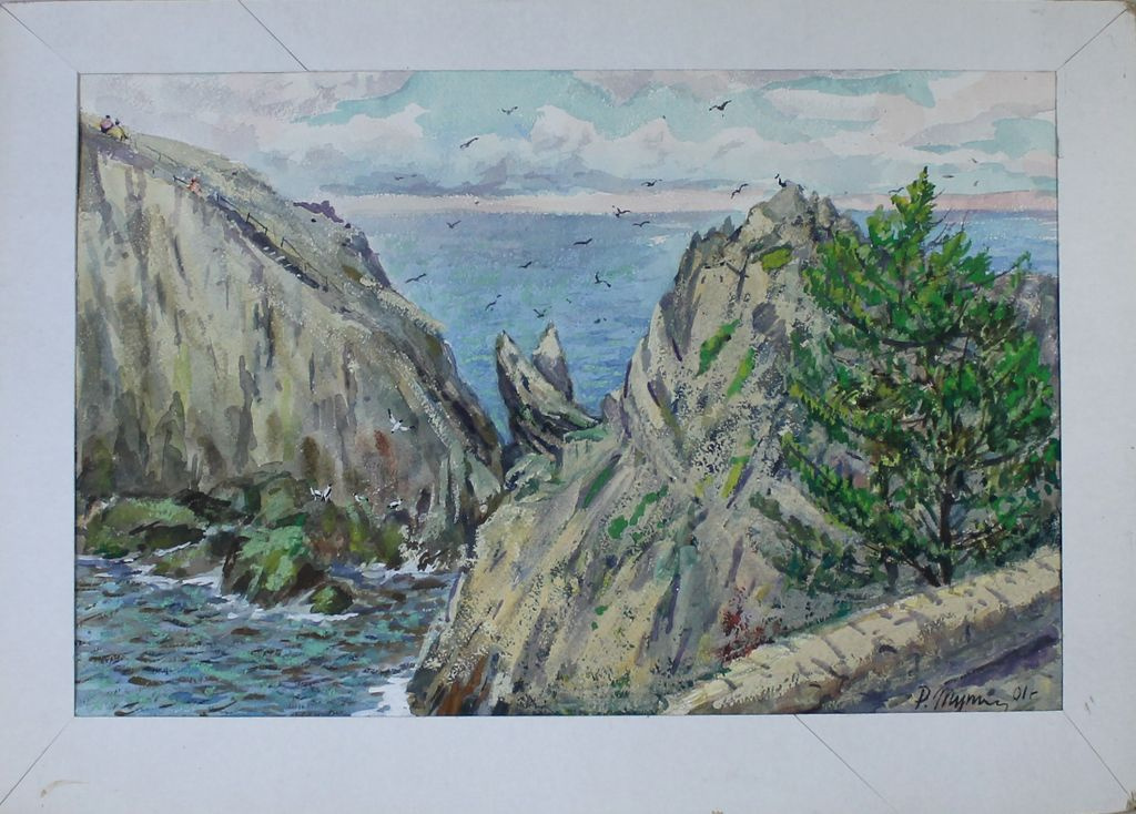 Reuben Filippovich Tupikin. Coastal cliffs
