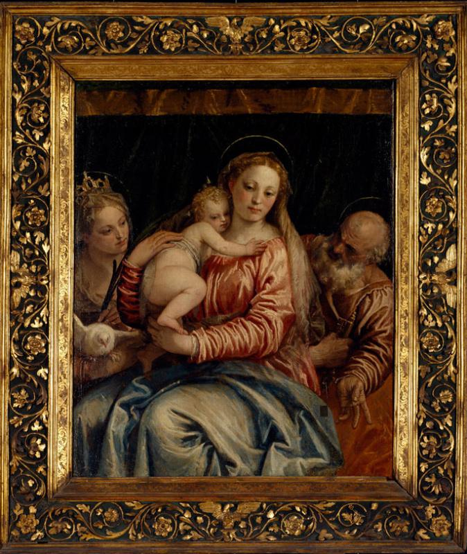 Мадонна с младенцем и святой мученик Петр