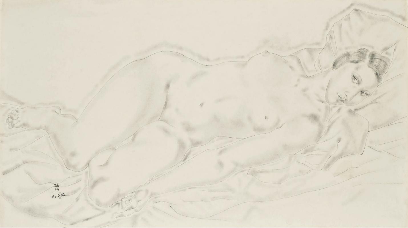 Цугухару Фудзита ( Леонар Фужита ). Reclining Nude