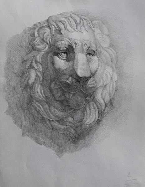 Larissa Lukaneva. Mask of a lion