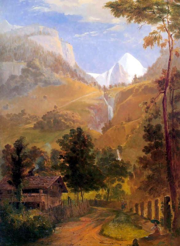 Сэмюэл Колман. Веттерхорн и водопад Рейхенбах
