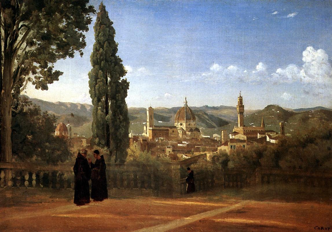 Камиль Коро. Вид Флоренции со стороны садов Боболи