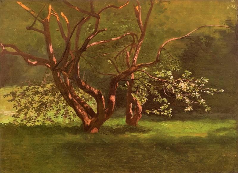 Jan Stanislavsky. Spring garden