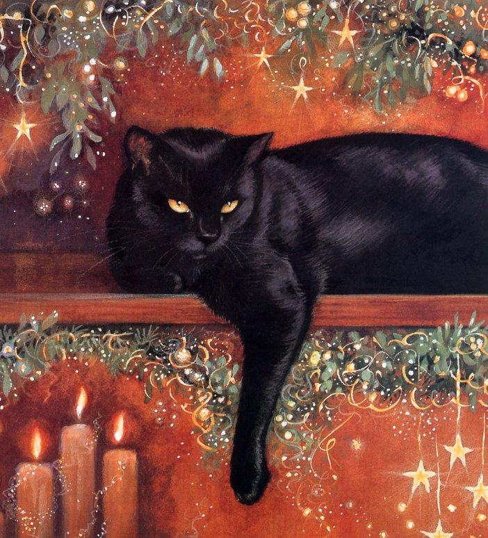 Крисси Снеллинг. Черный кот отдыхает
