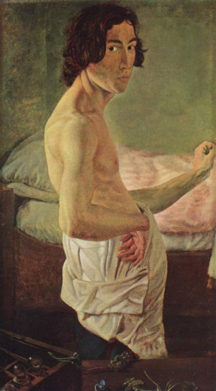 Виктор Эмиль Янссен. Автопортрет перед мольбертом
