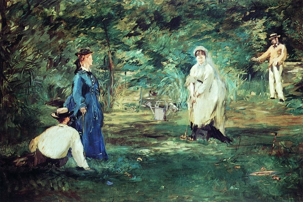 Edouard Manet. The game of croquet