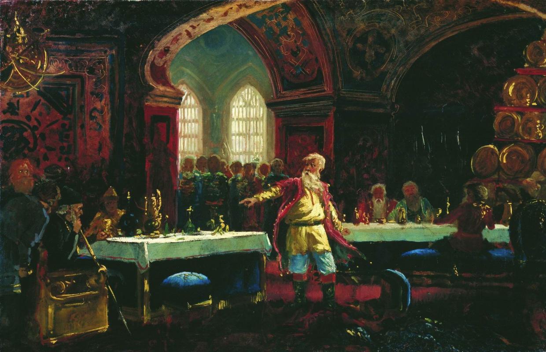 Konstantin Makovsky. Prince Repnin at the feast of Ivan the Terrible