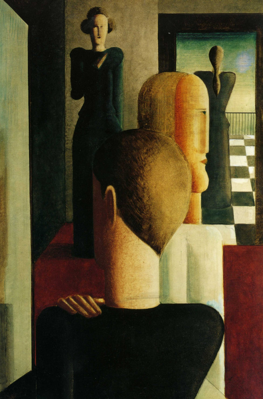 Oscar Schlemmer. Figures in a room