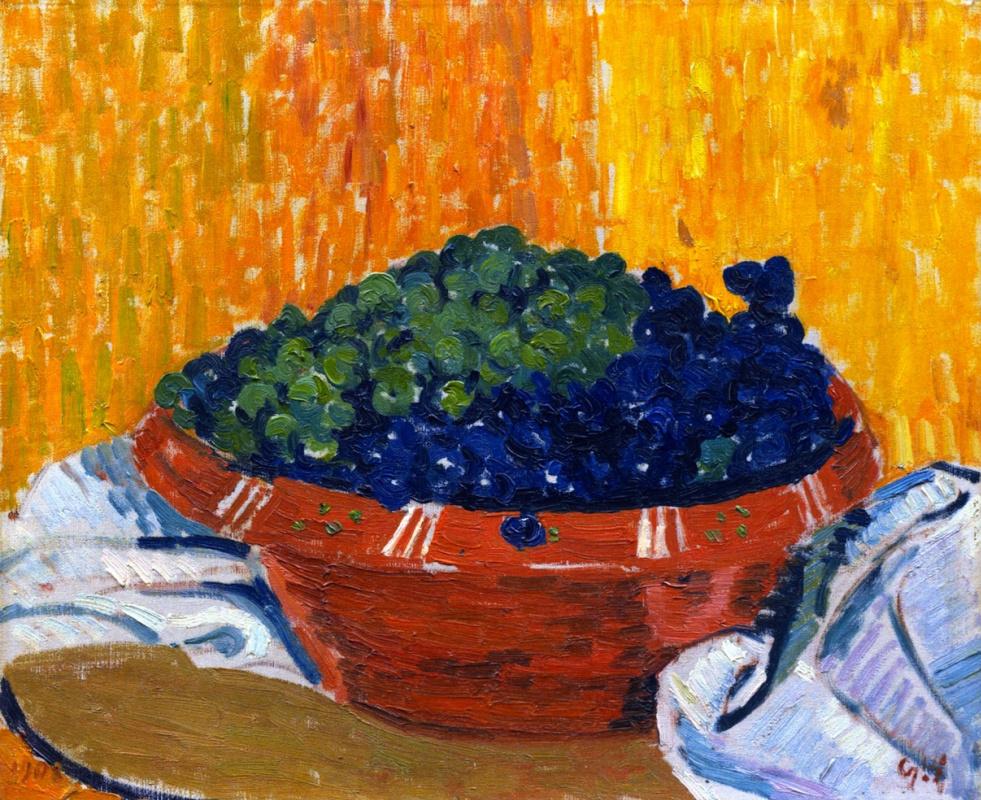 Giovanni Giacometti. Bowl with grapes