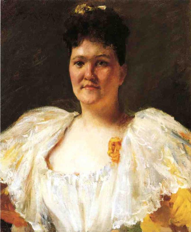 Уильям Чейз. Портрет женщины