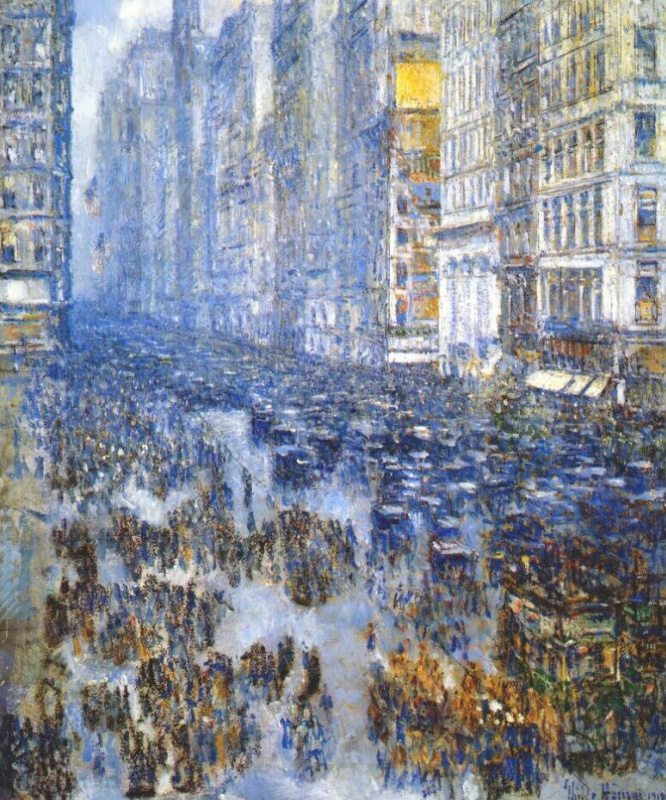 Childe Hassam. Fifth Avenue