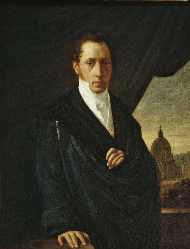 Peter Vasilyevich Basin Russia. Portrait of artist S. F. Shchedrin. 1822