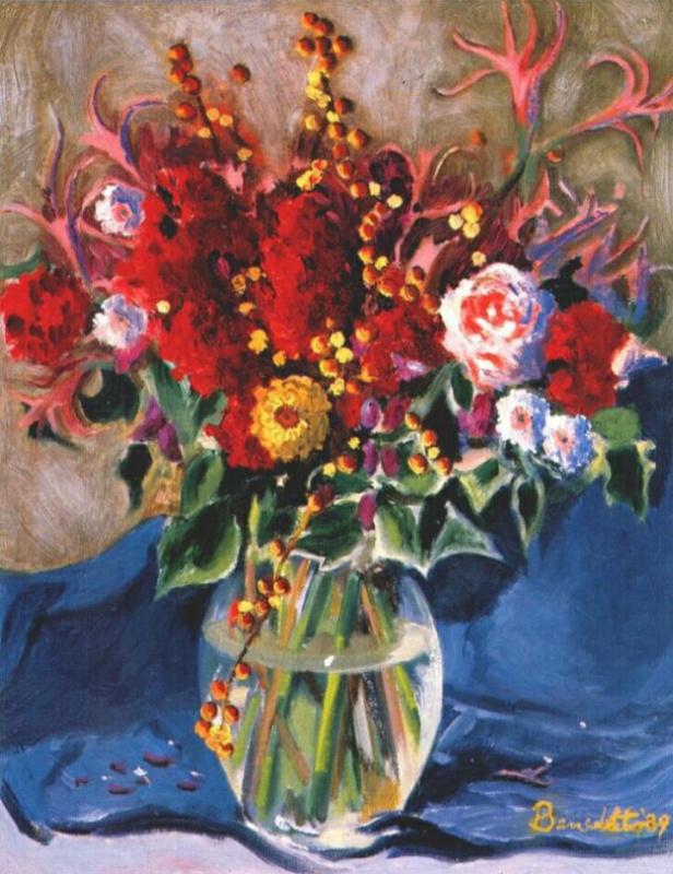 Брайан Беннетт. Натюрморт с цветами