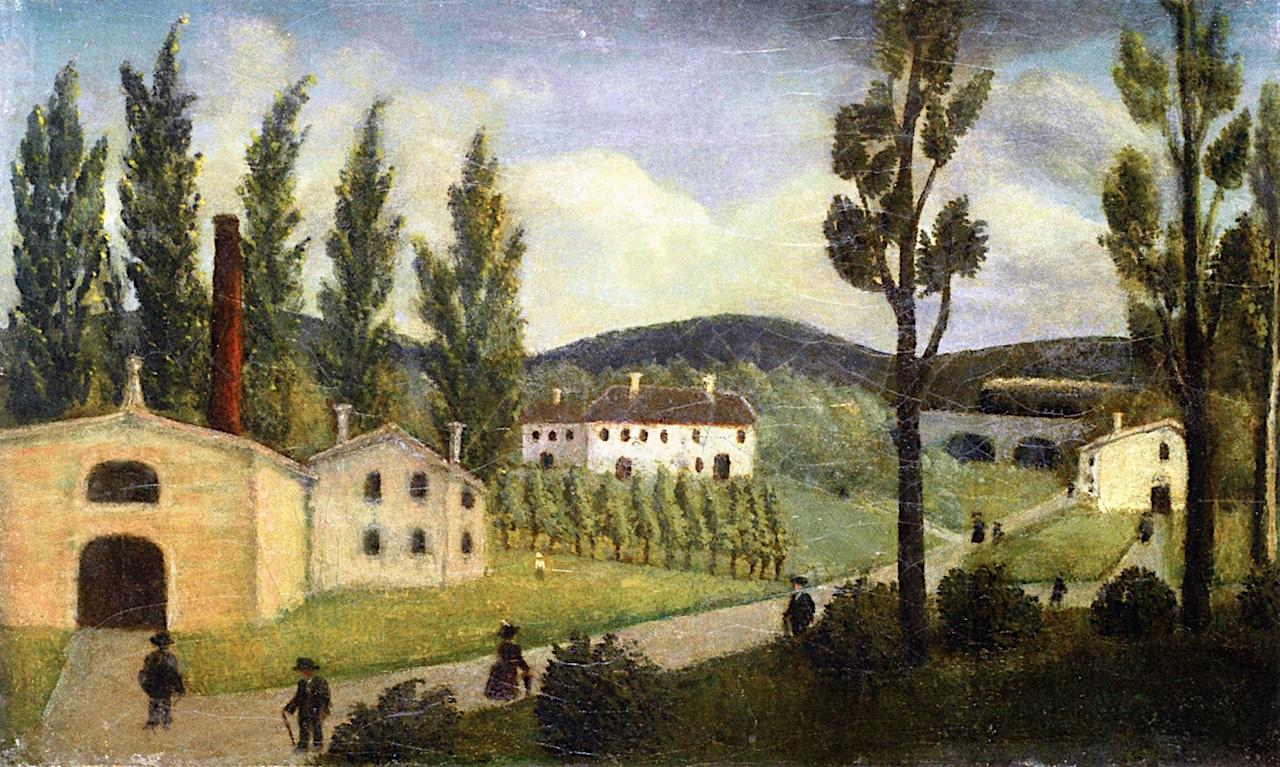 Henri Rousseau. Landscape with Strollers