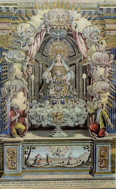 """Антонио Рока-и-Сальент. Вотивный образ """"Дева Мария де ла Мерседес"""", святая покровительница Барселоны"""