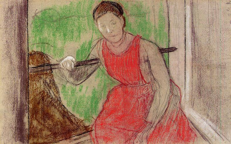 Edgar Degas. Woman at the window