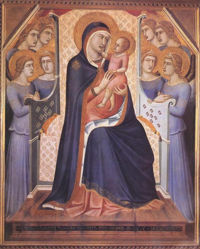 Пьетро Лоренцетти. Мадонна на троне с ангелами