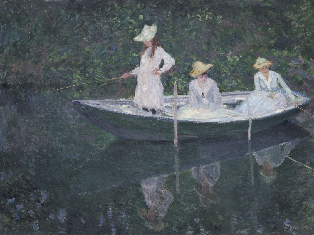 Claude Monet. In the Norwegian boat in Giverny
