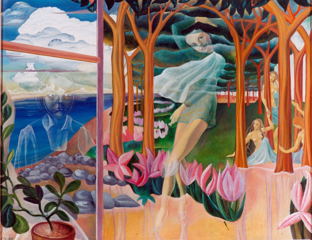 George Timofeevich Salikov. Reflections (portrait of daughter Sophia)