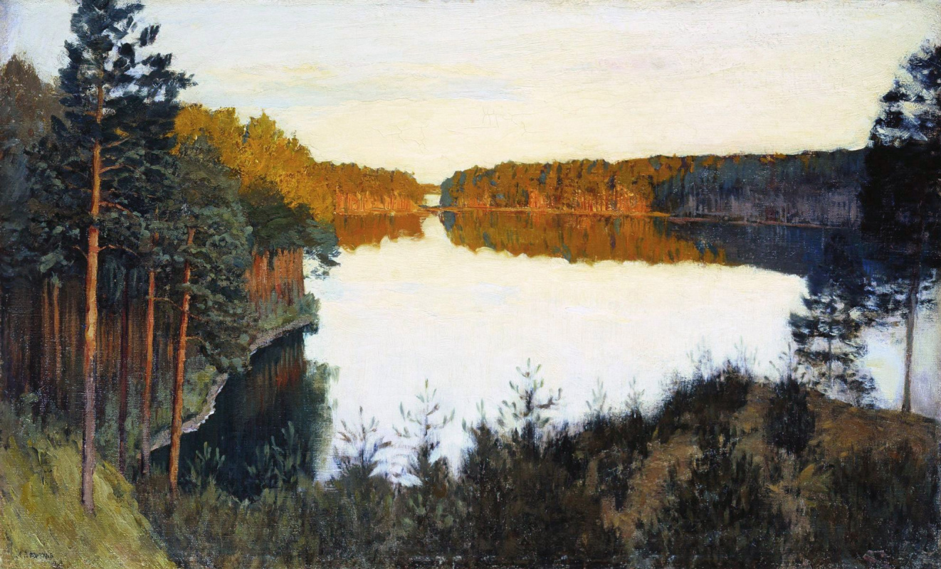 Picture Levitan Spring. High water or Edge, reminiscent of paradise 39