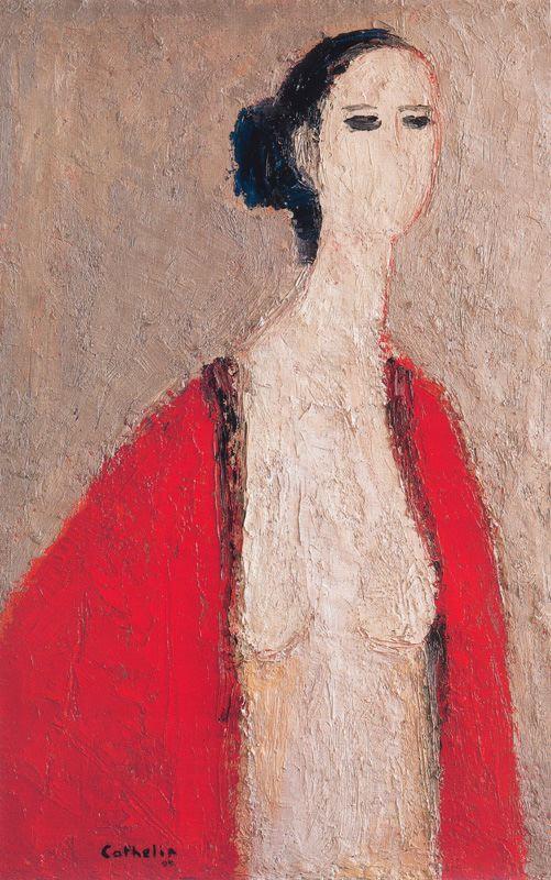 Катерин Бернард. Девушка в красном