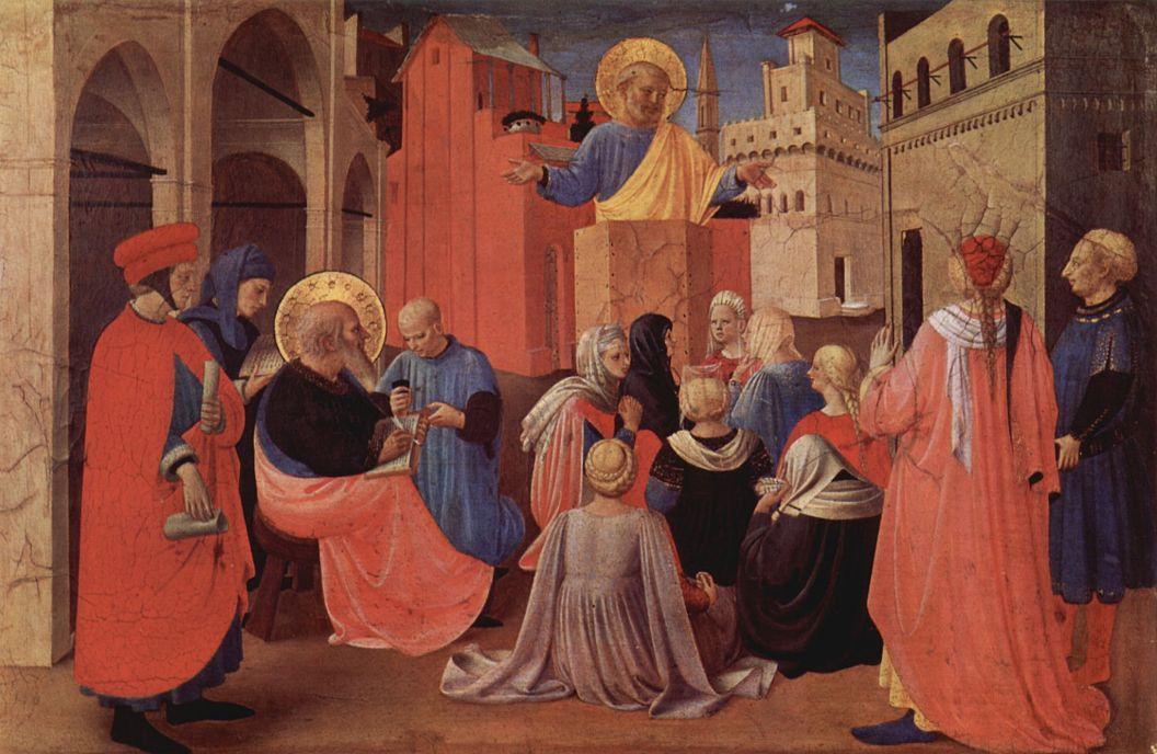 Фра Беато Анджелико. Проповедь Святого Петра