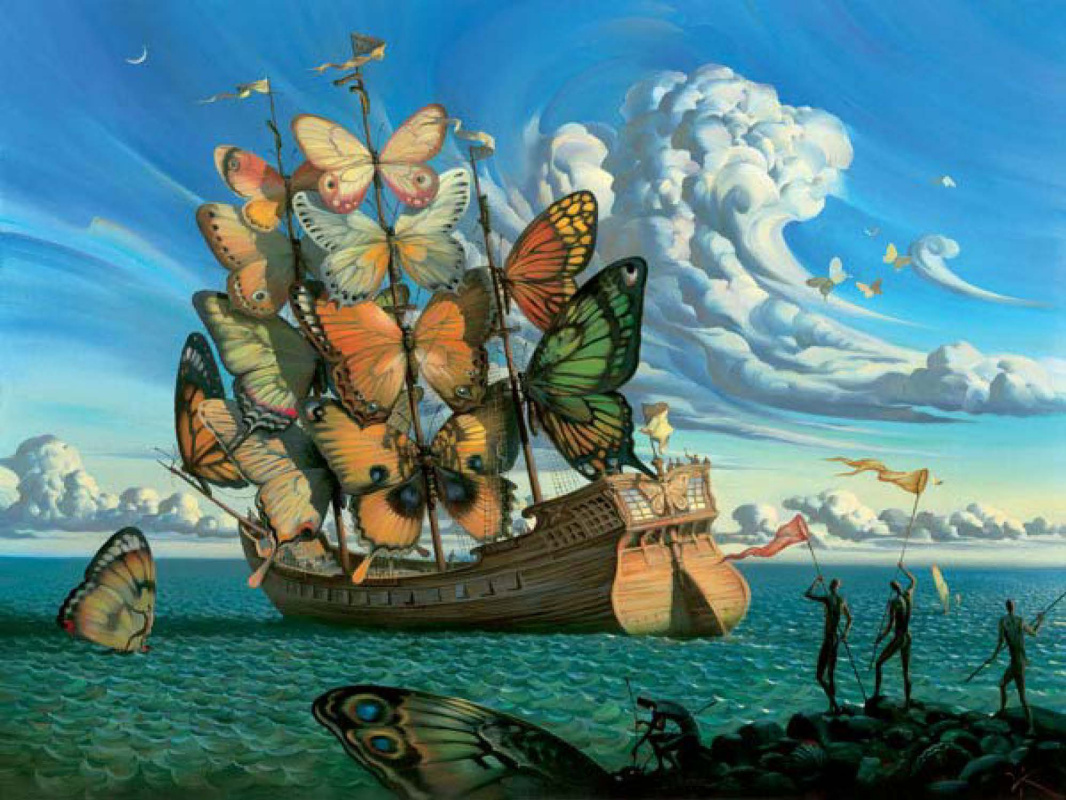 Vladimir Kush. Departure of the winged ship
