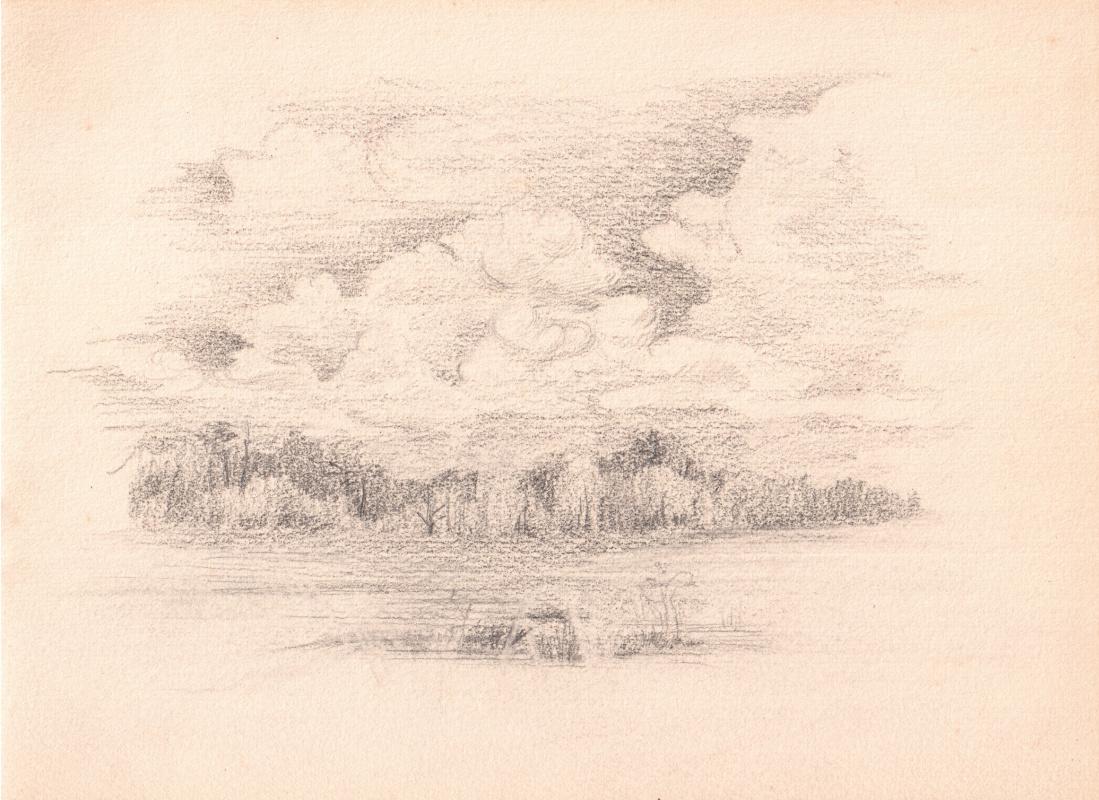 Аркадий Павлович Лаптев. Облака над лесом