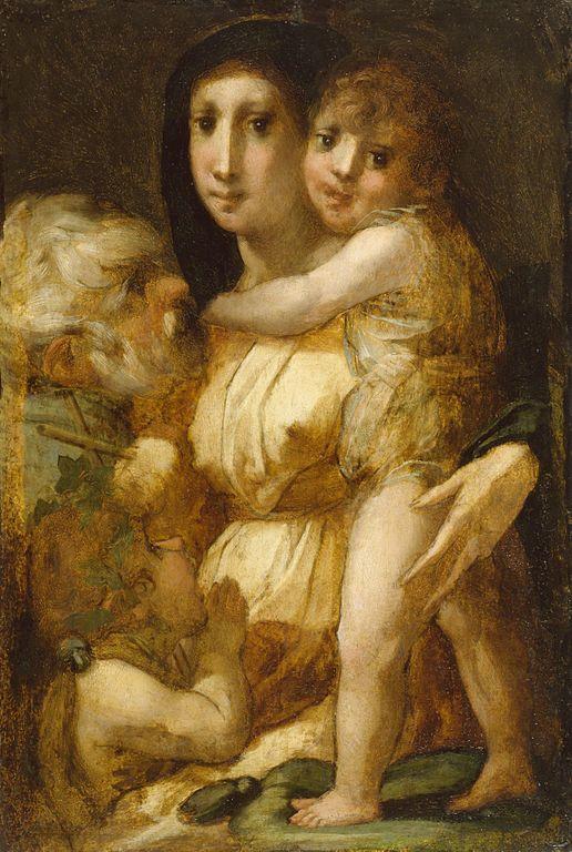 Россо Фьорентино. Святое семейство с младенцем Иоанном Крестителем