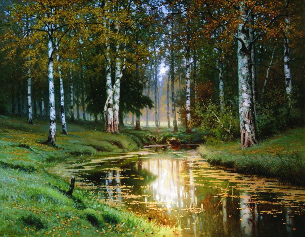 Efim Efimovich Volkov. Landscape with river
