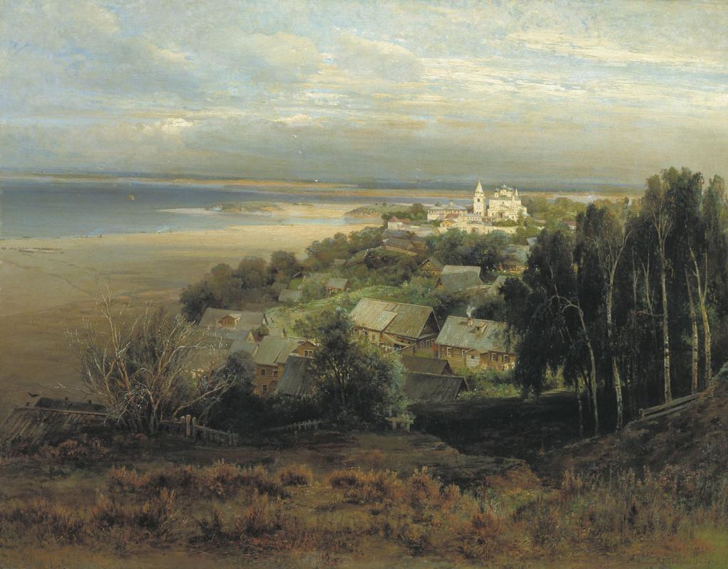 Алексей Кондратьевич Саврасов. Печерский монастырь под Нижним Новгородом