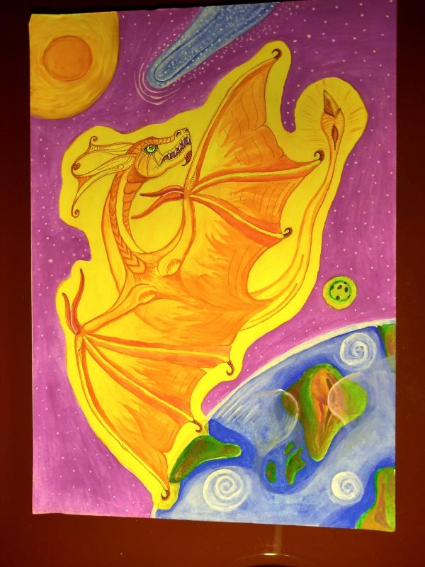 Olga Vasilievna Potapova. Flying golden dragon