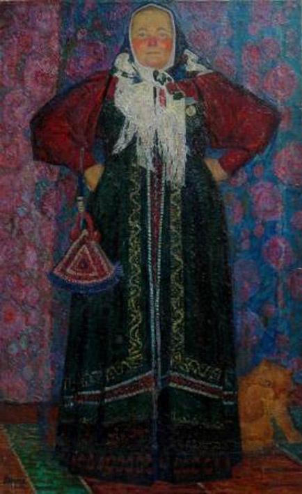 Виктор Васильевич Непьянов. Солистка народного хора Мария Немакина