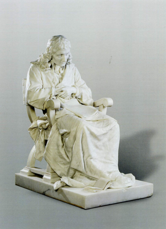 Mark Matveyevich Antokolsky. Spinoza. Reduced repetition of statues in marble (1887) located in the timing