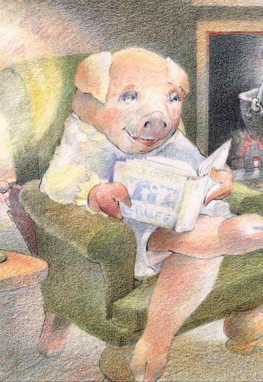 Дэвид Йоргенсен. Свинья читает