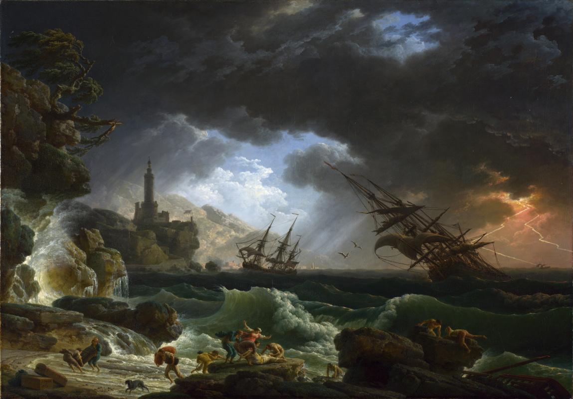 Клод Жозеф Верне. Кораблекрушение во время шторма