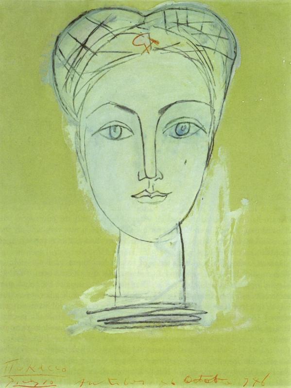 Пабло Пикассо. Портрет Франсуазы с серпом и молотом