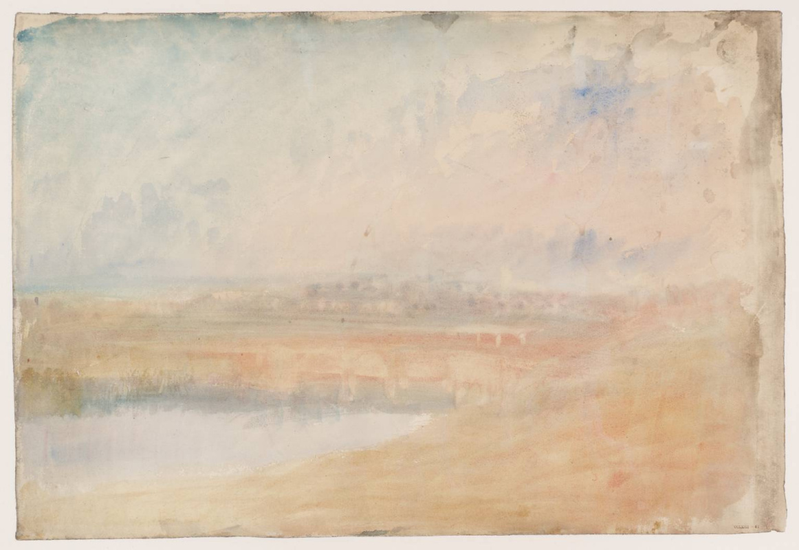 Joseph Mallord William Turner. Of Tamworth and bridges on the river Thame, Staffordshire