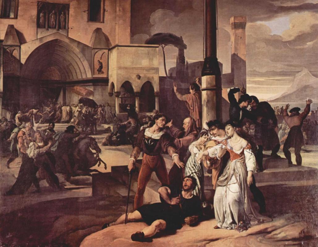"""Франческо Айец. Цикл картин """"Сицилийская вечерня"""". Сцена 1"""