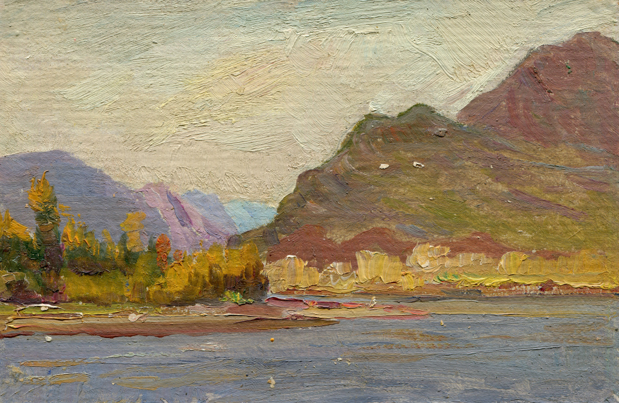 "Vasily Fadeevich Demin. Etude ""River in the Mountains"""