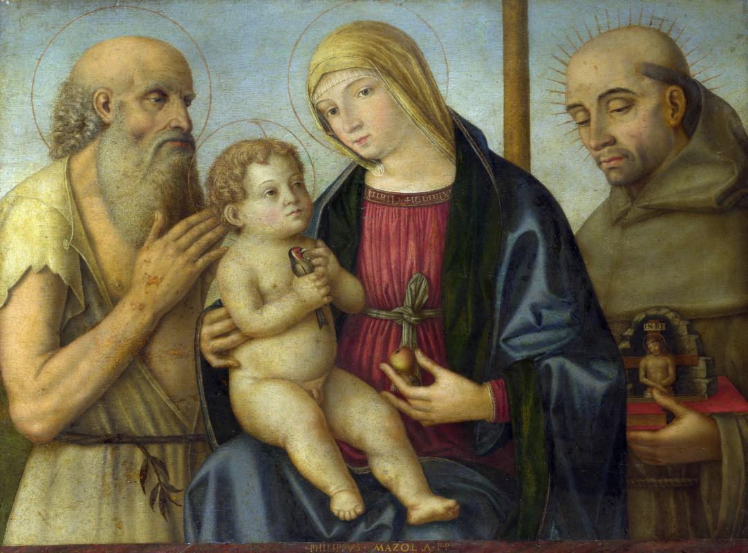 Филиппо Маццола. Дева с младенцем и святыми