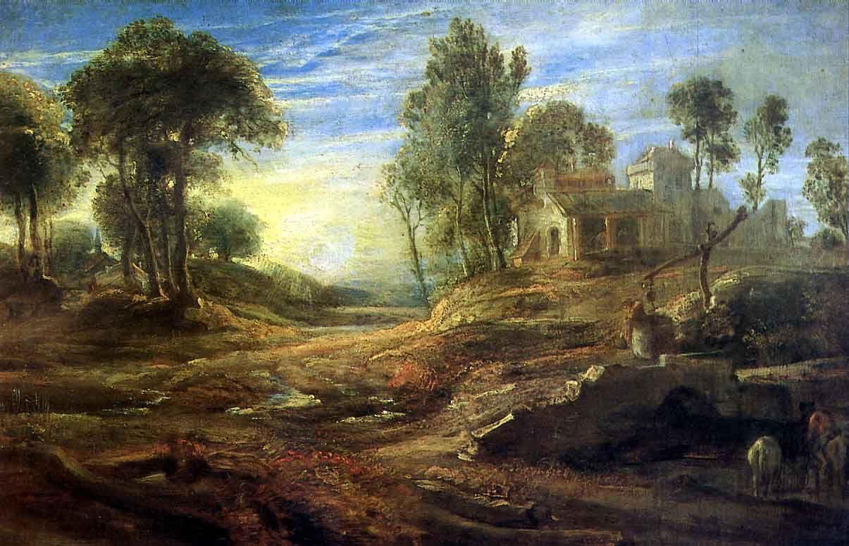 Питер Пауль Рубенс. Пейзаж с водопоем