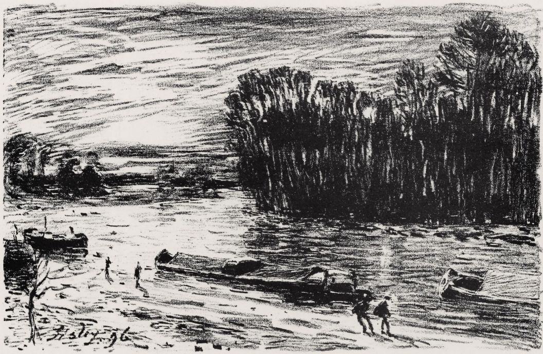 Альфред Сислей. Берега Луана у Сен-Маммес