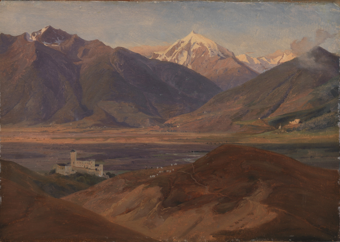 Jergen Valentine Sonne. Mountain landscape with Koira castle