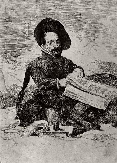 Франсиско Гойя. Портрет Эль Примо (Диего де Акедо), шута Филиппа IV, с картины Веласкеса