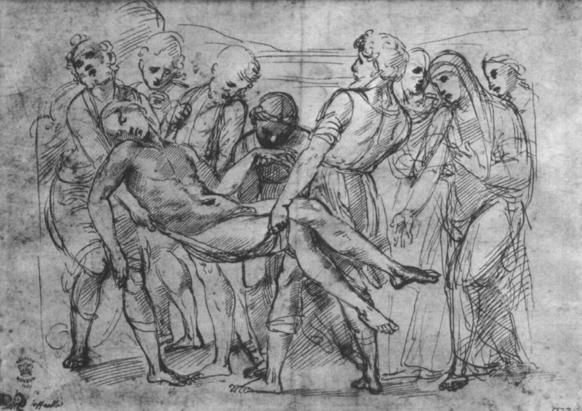 Raphael Sanzio. Sketch: The Burial Of Christ